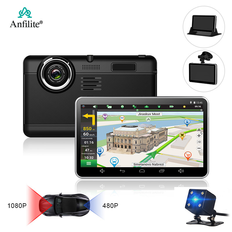 Anfilite Car-Dvr Record Dash-Cam Android H55 7inch 16GB 1080P Free-Maps Capacitive Quad-Core title=