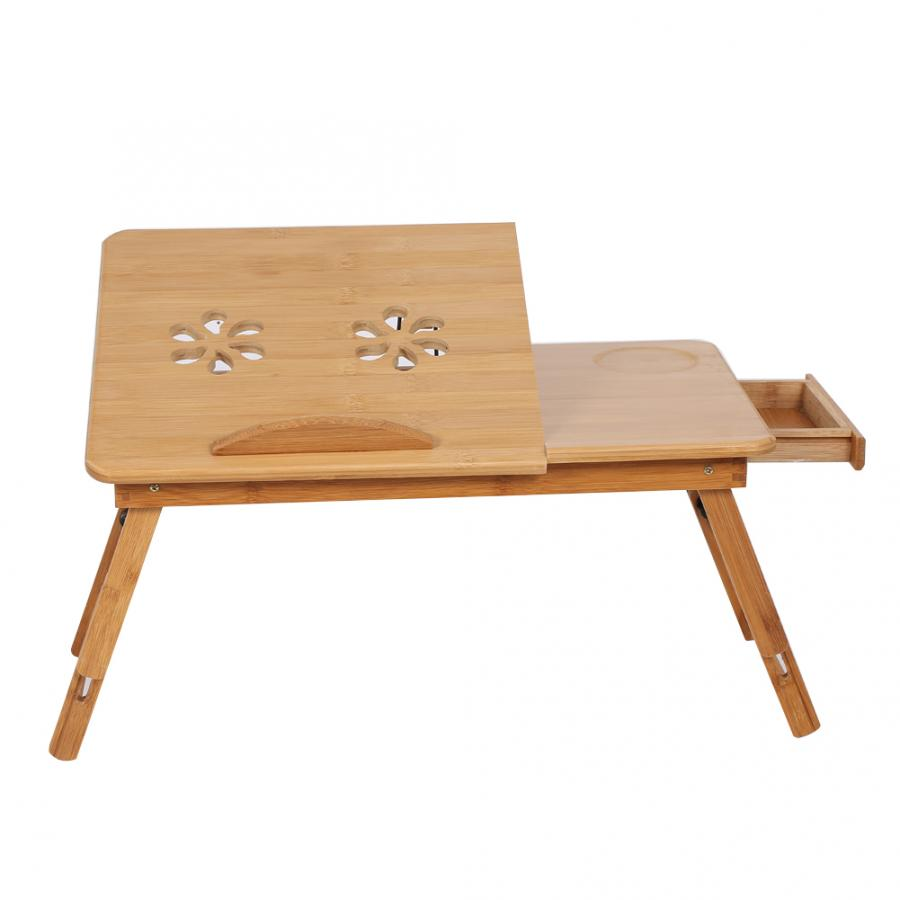 Shelf Tray-Stand Bamboo-Rack Book-Reading Lap Desk Adjustable Dormitory-Bed Two-Flowers