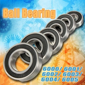 1PC Deep Groove Rubber Sealed Ball Bearing 6000 6001 6002 6003 6004 6005 2RS Miniature Bearing