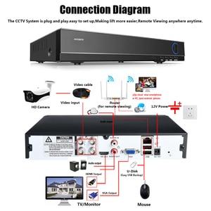 Image 3 - Home Überwachung AHD Kamera 4MP Wasserdichte Outdoor CCTV Kamera Mit 6PCS ARRAY IR LED ONVIF E mail Alarm nachtsicht 3,6mm objektiv