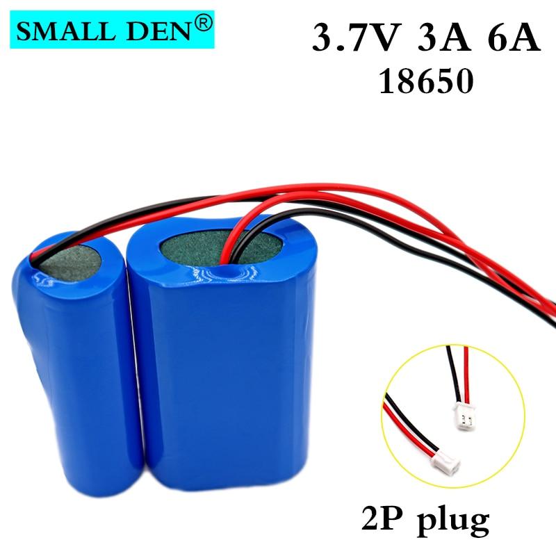 3,7 V 18650, 3000mAh 6000mAh batería recargable de ión-litio paquete luces LED de pesca altavoz 4,2 V de emergencia de baterías con PCB