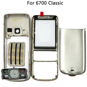 Image 2 - New 6700 Full Housing Case For Nokia 6700 Classic 6700C Rear Metal Battery Cover Front Middle Frame Plate Back Cover