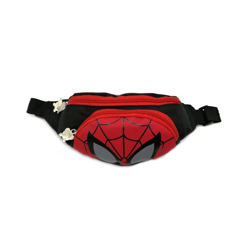 Minnie Boy And Girl Fanny Pack Fashion Shoulder Chest Bags Waist Bag Spiderman Oxford Cloth Mini Bum Bag Adjustable Belt Bags