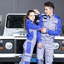 Рабочие костюмы для сварки, рабочая одежда для мужчин и женщин, Рабочая форма с длинными рукавами, сварочный костюм для мастерской, механиче...