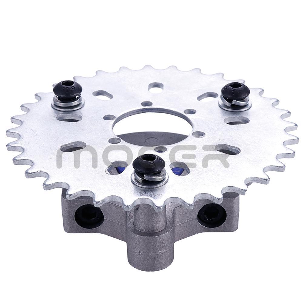 36T Sprocket Adapter Fit 1.5 Inch 1 1/2  415 Chain 49cc 50cc 66cc 80cc 2 Stroke Motorized Bike