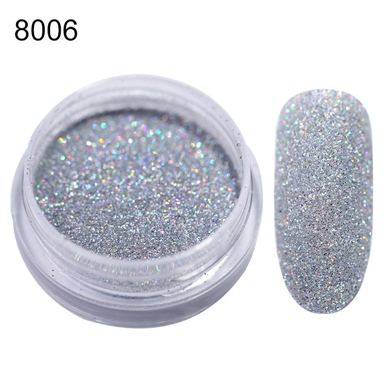 Rose Gold Bubble Mirror Powder Metallic Nail Glitter Holographics Chrome Dust Sparkling Flakes Pigment Manicur Nail Art Decor 50