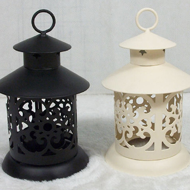 European Vintage Metal Birdcage Lantern Candle Holder Garden Night Outdoor Tea Light Wedding Home Table Decoration Holder 6
