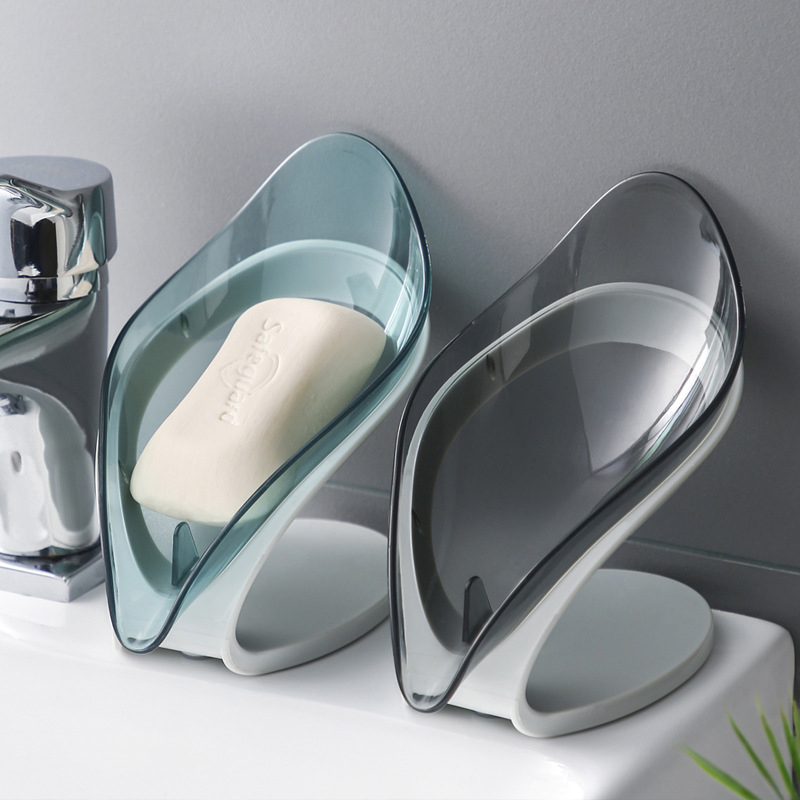 HOT 1PC Leaf Shape Soap Box Bathroom Soap Holder Dish Storage Plate Tray Bathroom Accessories Case Bathroom Drainage Soap Holder