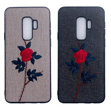 New Embroidered Rose Case Cover For iPhone XS Max XR X/XS 7P 8P 7 8 6 6S 6P 6S Plus Case Cover цена и фото