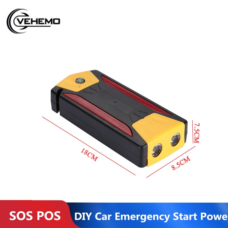 Vehemo 4USB with LED Lamp Multi Function Portable DIY Battery Charger Vehicle High Capacity Power Bank Case Mobile Phone