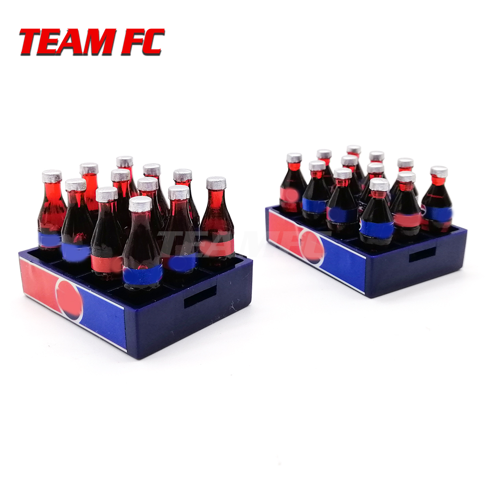 5sets RC Rock <font><b>Crawlers</b></font> SCX10 <font><b>Scale</b></font> Coke Bottles & Crate <font><b>Body</b></font> Accessories for 1:10 Simulated Cola Model for Remote Control Car image