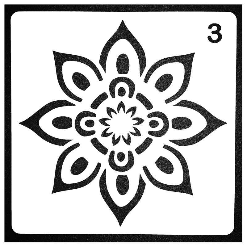 Mandala style Pattern DIY Layering Stencils For Wall Painting Scrapbook Coloring Embossing Album Paper Card Template Decoration