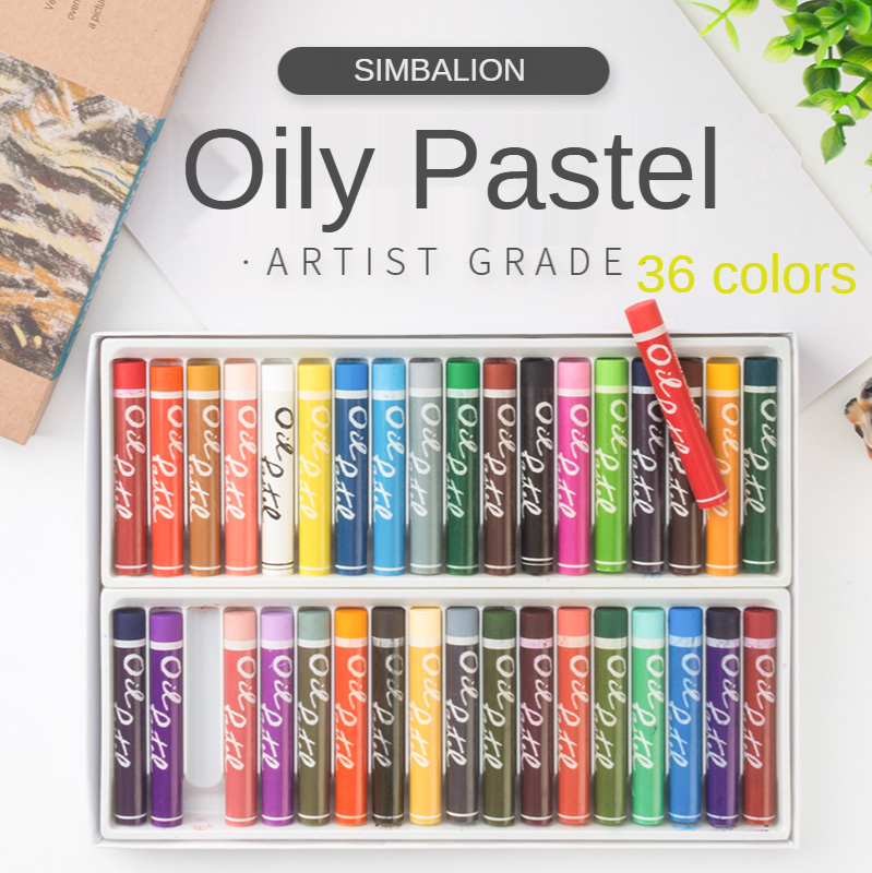Simba Lion 36 color Oil Pastel Color Paint Stick Crayon Oily Pastille Drawing Pen Artist Supplies
