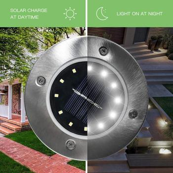 12 LED Solar Light Outdoor Waterproof Solar Powered Lawn Lamp for Yard Path Way Landscape Decorative Garden Flower Lamp image