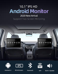 10.1 inch Android Car Headrest Monitor RAM 2GB 1080P video IPS Touch Screen 4G WIFI/Bluetooth/USB/SD/FM