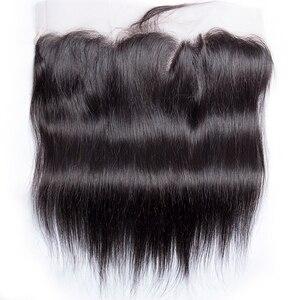 Image 4 - Proste włosy ludzkie wiązki z przednim zamknięciem brazylijskie włosy wyplata wiązki z przednim zamknięciem 100% doczepy z ludzkich włosów