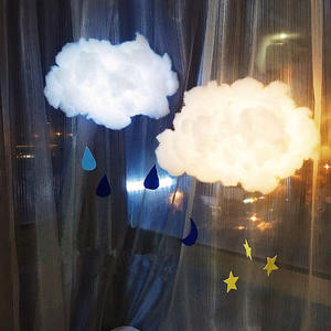 Light Decor Hanging-Night-Light Birthday-Gift Bedroom Cloud-Shape Cotton Cute Home 2m