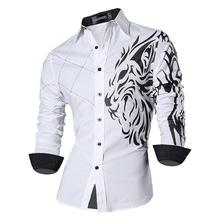 Sportrendy Men's Shirt Dress Casual Long Sleeve Slim Fit Fas
