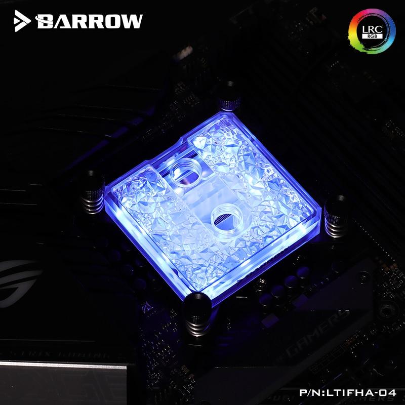 Barrow AMD AM3 AM4 CPU Water Block Use Fo Ryzen 3 1200 Ryzen 5 3600 LTIFH-04 Acrylic/Full Copper /A-RGB 3PIN 5V