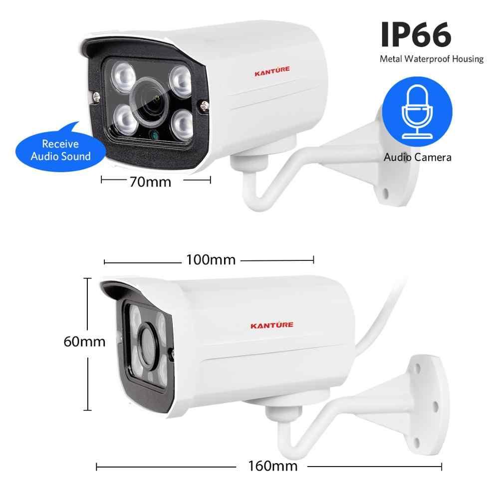 KANTURE H.265 + 8CH 5MP bezprzewodowy System kamer bezpieczeństwa NVR POE 5MP Audio na zewnątrz IR-CUT wideo CCTV zestaw do nadzorowania zapis twarzy