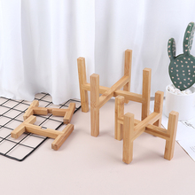 Rack Shelf Trays Bonsai-Holder Planter Flower-Pot Garden Indoor-Display Wood Strong Home