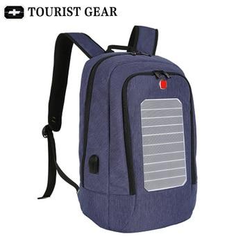Solar Powered Designer bagpack men mochila usb charging anti theft backpack Travel 15.6'' laptop swiss backpack women waterproof 1