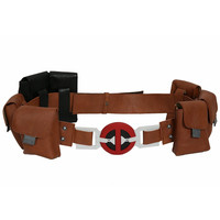 Deadpool Belt Full Set Buckle Pouches Costume Ryan Reynolds Halloween Carnival Costume Accessories Cospaly Props