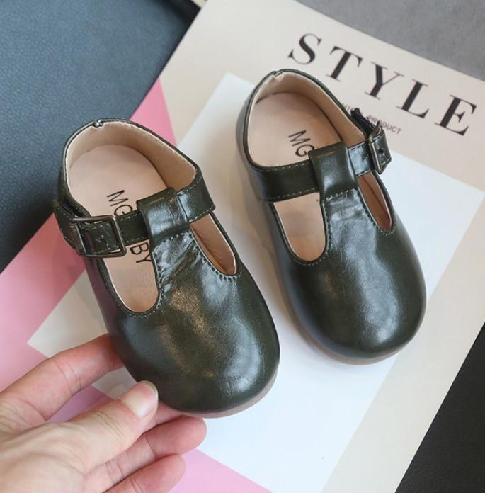 Çocuk deri düğün elbisesi ayakkabı kız erkek çocuklar siyah okul performansı resmi düz Loafer Moccasins ayakkabı yeni ayakkabı