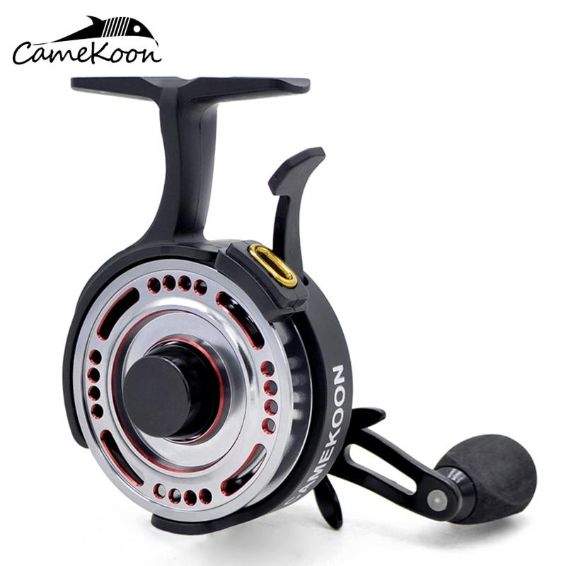 camekoon fl501l jangada carretel de pesca freefall 2 5 1 canhoto recuperar anti reverso carretel de
