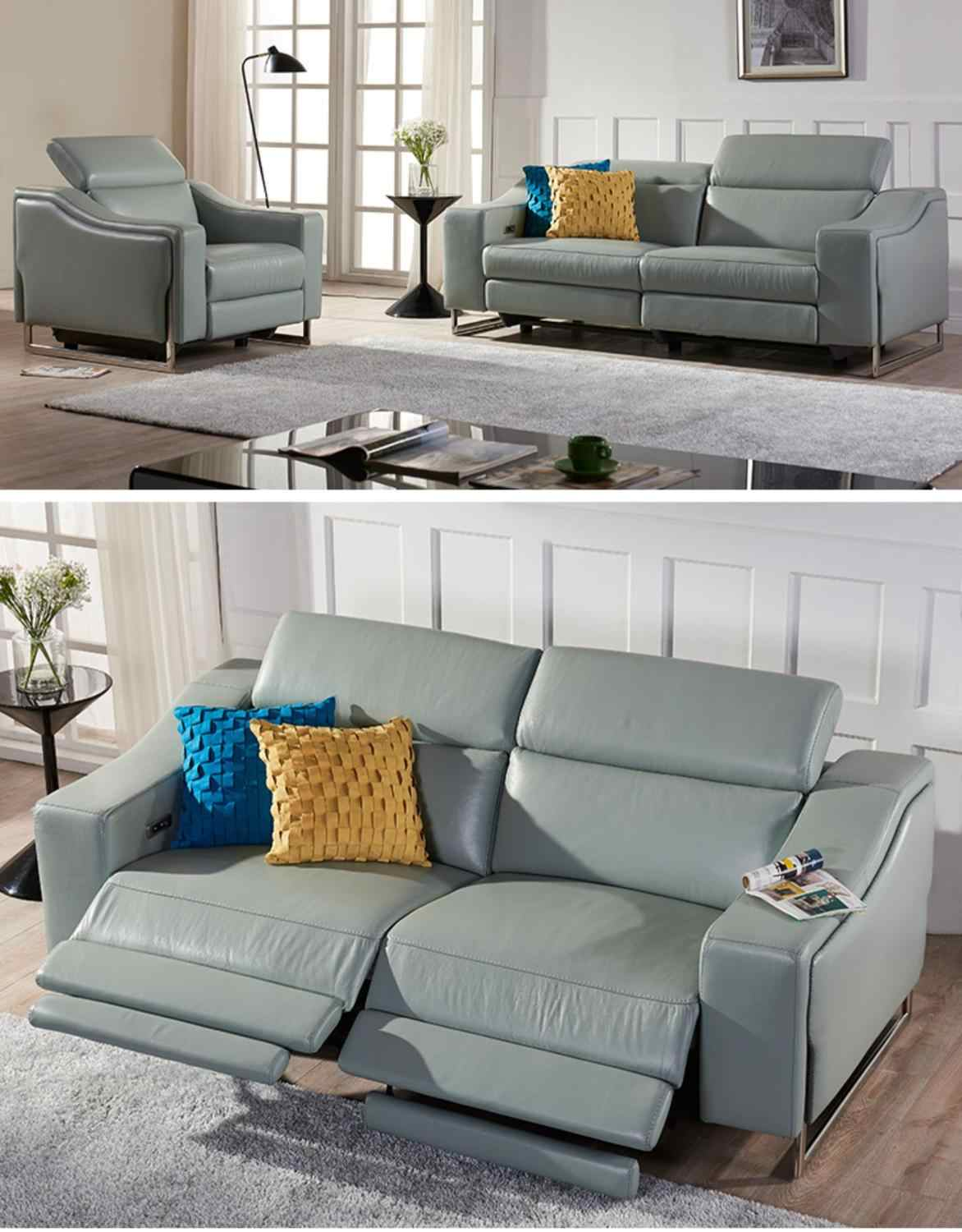 - Living Room Sofa Set Corner Sofa Recliner Electric Couch Genuine