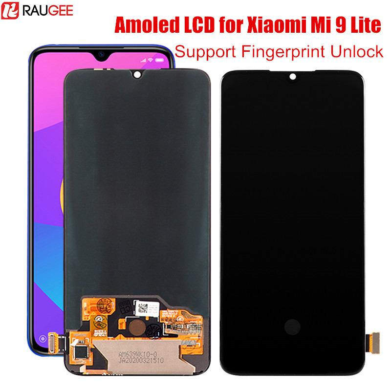 LCD Display For Xiaomi Mi 9 Lite Original Amoled Lcd Screen Fingerprint Unlock Tested Digitizer For Xiaomi Mi 9 Mi9 Lite Global