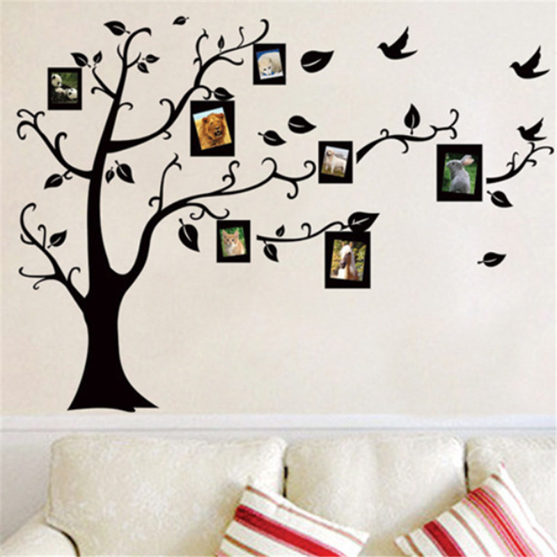 Topbaking Wallpaper 3D DIY Photo Tree PVC Wall Decals/Adhesive Family Wall Stickers Mural Art Home Decor