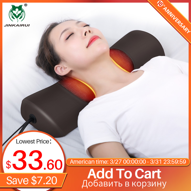 Jinkairui Newest Upgrade Neck Massager With Air Compress Magnet Therapy Strong Heating Three Ways Of Vibration Gift Health Care