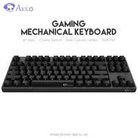 Original AKKO 3087 Spiel Mechanische Tastatur Kirsche Schalter Seite Geschnitzte Brief Typ-C USB Verdrahtete Computer Gamer