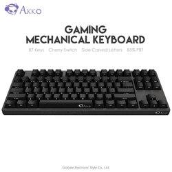 Originele Akko 3087 Spel Mechanische Toetsenbord Cherry Schakelaar Kant Gesneden Brief Type-C Usb Bedrade Computer Gamer