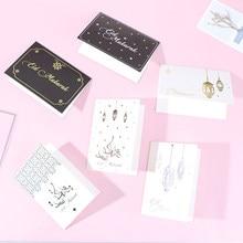 12 pçs/set Cartões Eid Ramadan Mubarak Cartão Eid Mubarak Decor