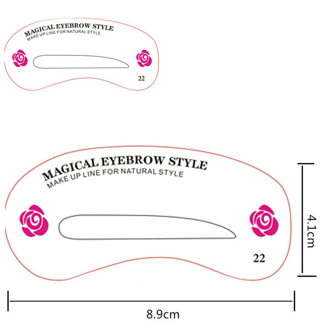 New 24 Pcs Reusable Eyebrow Stencil Set Eye Brow DIY Drawing Guide Shaping Grooming Template Card Easy Makeup Beauty Kit SCI88 5