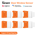 1-50pcs SONOFF SNZB-04 Zigbee Tür Fenster Alarm Sensor für eWelink Smart Sicherheit ZBBridge Erforderlich Arbeit mit Alexa google Hause