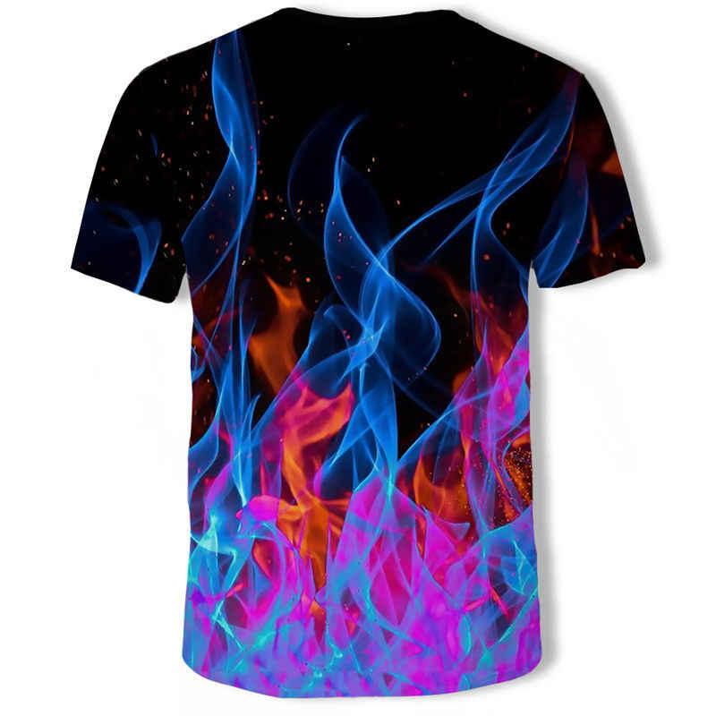 Grappige t-shirts Art T shirts Mannen Graffiti T-shirt Gedrukt Kleurrijke t-shirt 3d Abstracte Tshirt Homme Karakter Print Mens kleding