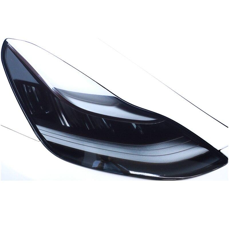Подходит для Tesla model 3, model S, X, автомобильные аксессуары, затемненная пленка для фар, защитная пленка из ТПУ, высокая светопроницаемость