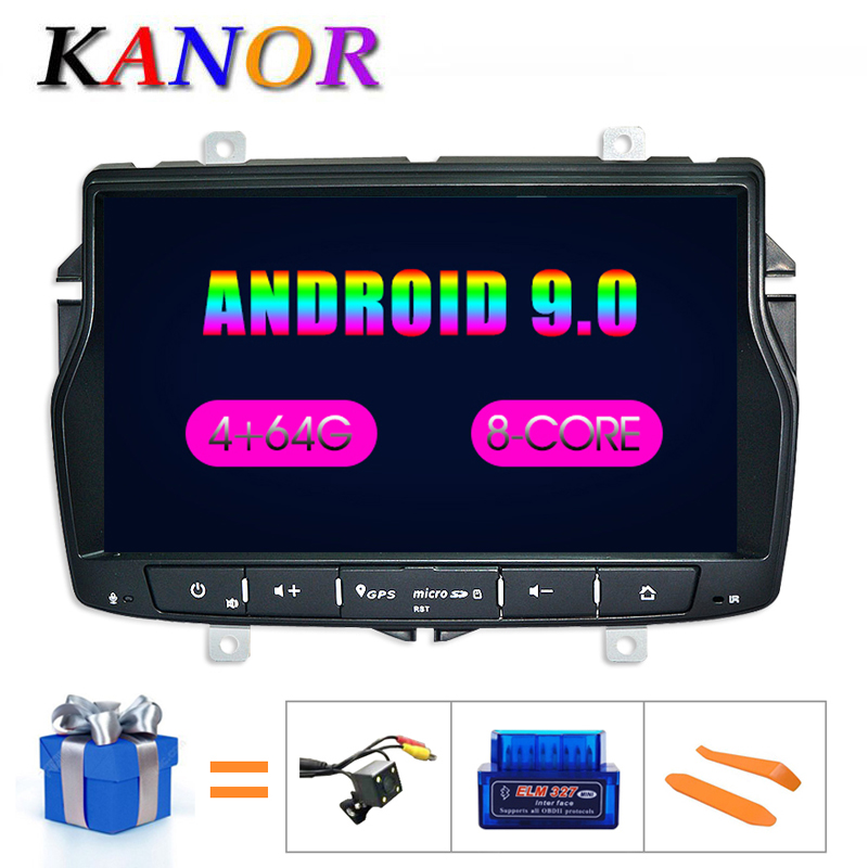 KANOR Android 8.0 Octa Core 4+32g 2din Car DVD Cassette Player For Lada Vesta With WIFI SWC Bluetooth Double din multimedia PC image