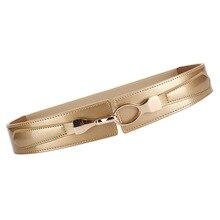 Good NEW Dress Waistbands for Women Genuine Leather Wide Corset Strech Belts alloy gold buckle Girl Cow cummerbunds coat