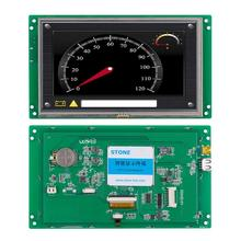 7 800x480 TFT LCM with CPU + Touch Panel UART PORT Command set