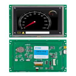 7 800x480 TFT LCM with CPU + Touch Panel + UART PORT + Command set