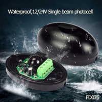 DC/AC 12~24V waterproof IP55 photocell automatic gate door safety sensor alarm infrared beam sensor photocell 15m detect range