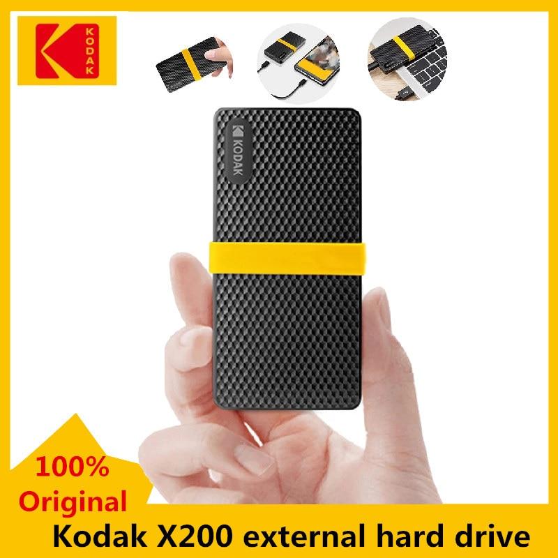 Kodak X200 External SSD Hard Drive 1TB  512GB 256GB 128GB USB3.1 Type-c Mini Portable Solid State Drives Gen 2 For PC Laptop