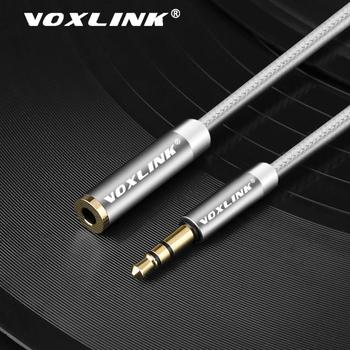 Kabel Audio VOXLINK 3 5mm jack dla iphone Samsung 3 5mm męski na żeński samochód pomocniczy kabel Audio stereo MP3 MP4 głośnik aux przewód tanie i dobre opinie Audio Przedłużacz 3 5mm male to female audio cable Męski-żeński Pakiet 1 3 5mm Male to Female Car Audio Cable Brak