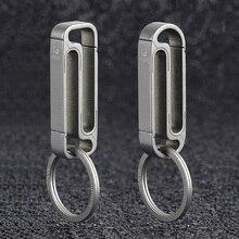 Titanium Keychain S-Day-Gift EDC Custom Wholesale Luxury Key-Ring-Buckle-Belt Lightweight