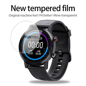 Image 4 - 5Pcs 9H Premium Tempered Glass For Xiaomi Smart Watch Youpin Haylou RT LS05S Solar LS05 Screen Protector Film Accessories