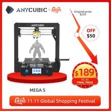 ANYCUBIC i3 ميجا ميجا S طابعة ثلاثية الأبعاد حجم كبير منصة الطباعة الإطار المعدني الكامل عالية الدقة FDM ثلاثية الأبعاد مجموعة الطابعة impresora ثلاثية الأبعاد